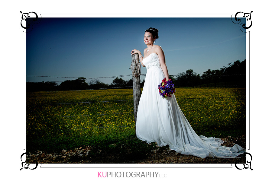 Bridal photography in wildflowers, Texas