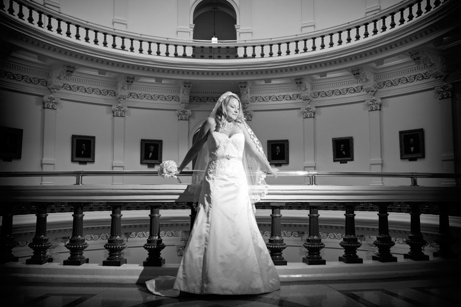 Texas capitol bridal photography