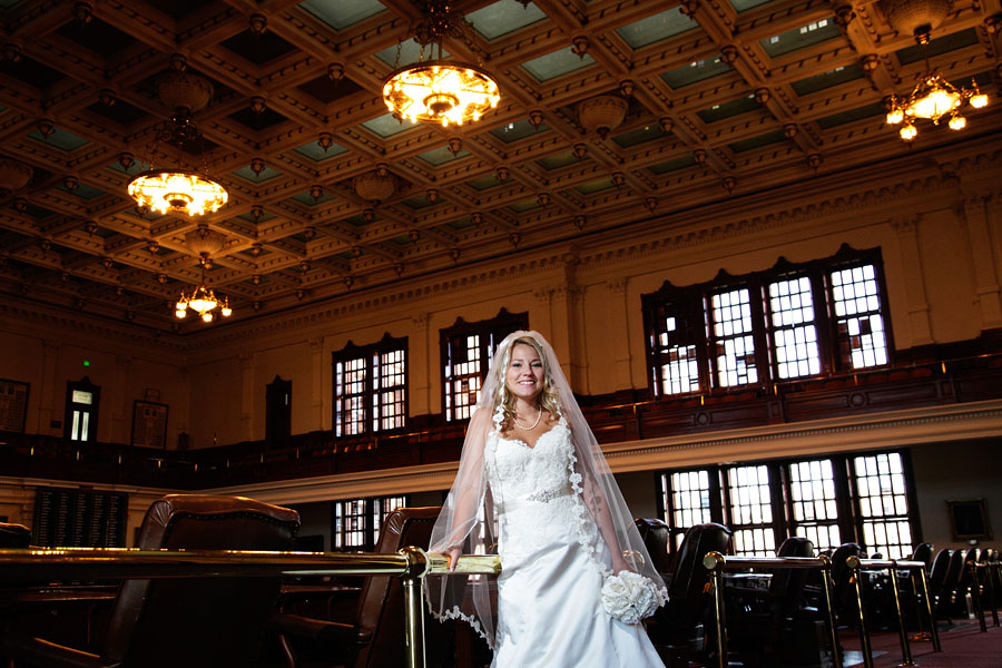 Bridal session at the Texas Capitol