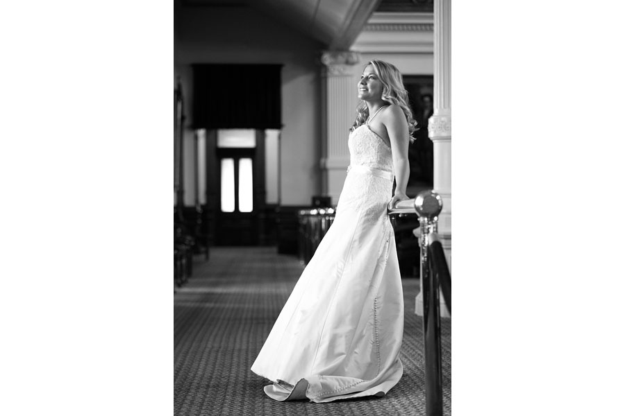 Bridal photography at the Texas Capitol
