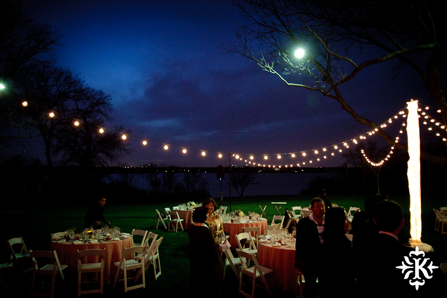 Night scene photographed by Austin wedding photographer Tony Ku, at the Dallas Arboretum