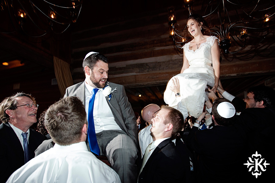 The Horah at Hoffman Haus wedding photographed by Austin wedding photographer, Tony Ku.