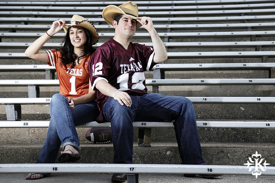 An engagement session at Kyle Field photographed by Austin wedding photogarpher Tony Ku (8)