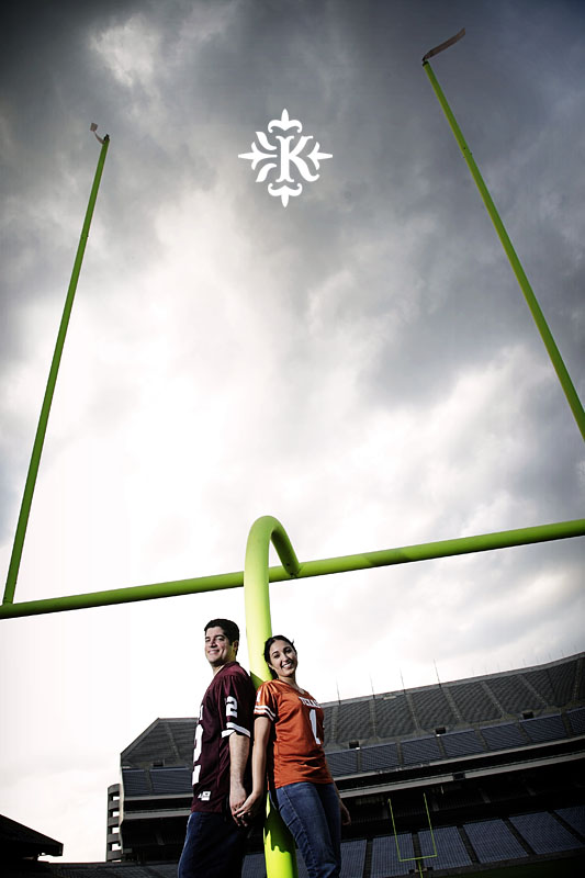 An engagement session at Kyle Field photographed by Austin wedding photogarpher Tony Ku (6)