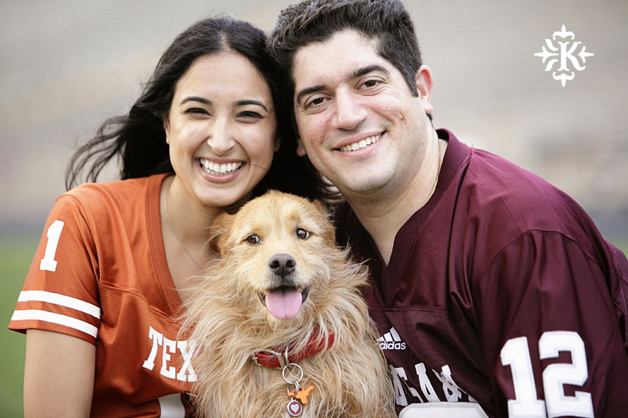 An engagement session at Kyle Field photographed by Austin wedding photogarpher Tony Ku (4)