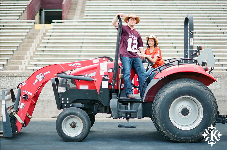 An engagement session at Kyle Field photographed by Austin wedding photogarpher Tony Ku (3)