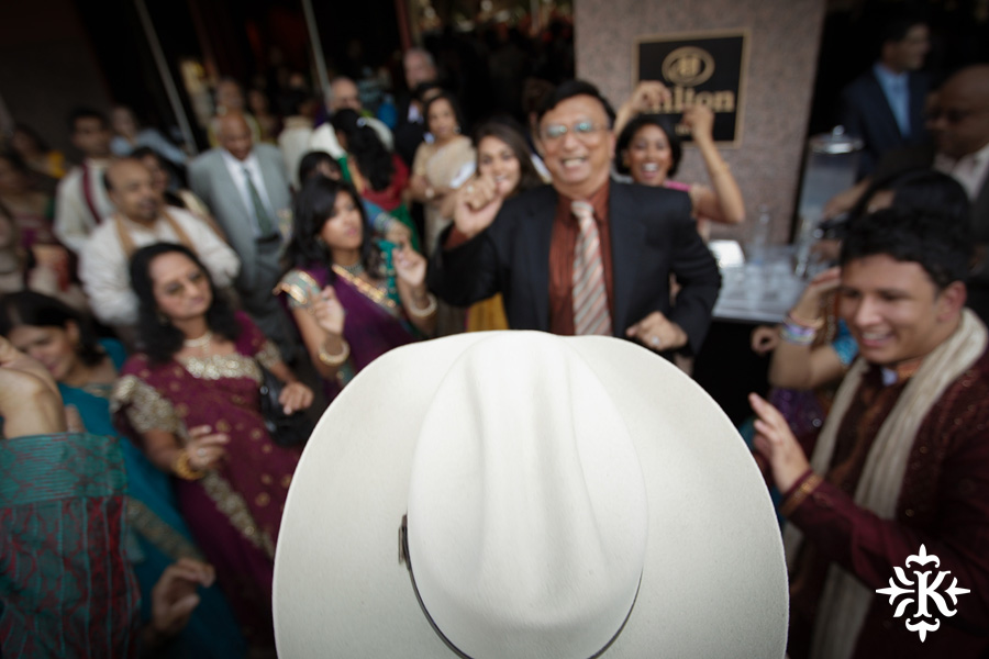 Indian wedding photos of Baraat and Ceremony at the Hilton Hotel photographed by Austin wedding photographer Tony Ku (33)