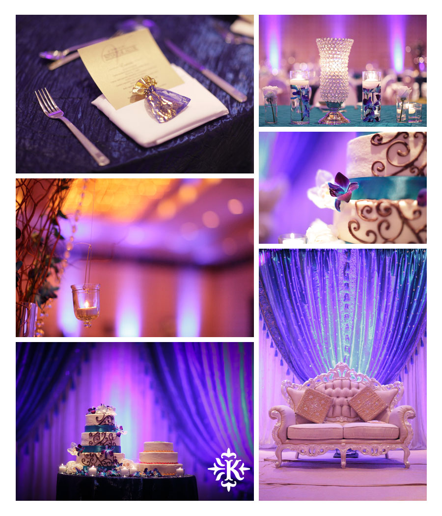 Austin wedding photographer Tony Ku photographs an Indian wedding reception in downtown Hilton Hotel, Austin, Texas. (1)