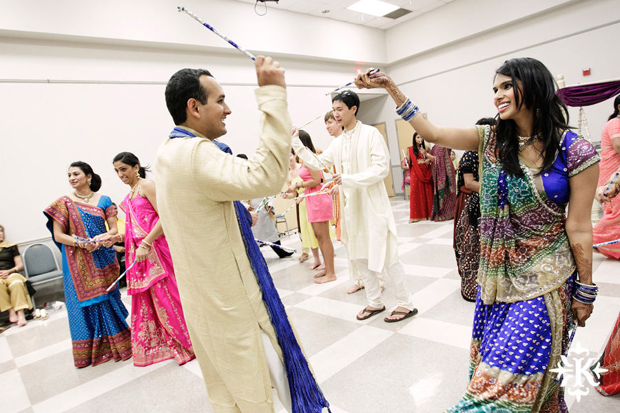 Garba Raas at the Lakeway Activity Center in an Indian wedding photographed by Austin wedding photographer Tony Ku (31)