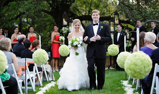 Ceremony photo at a Houstonian wedding photographed by Austin wedding photographer Tony Ku