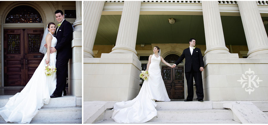 bridal and couple portrait at a wedding at Mansion at Judges' Hill, photographed by Austin wedding photographer