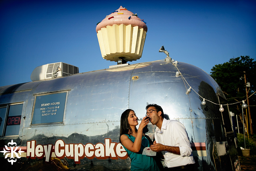 austin wedding photographer photographs at Hey Cupcake engagement